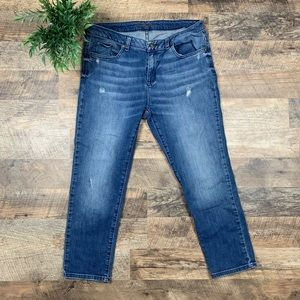 Michael Kors Cropped Distressed Jeans Size 6
